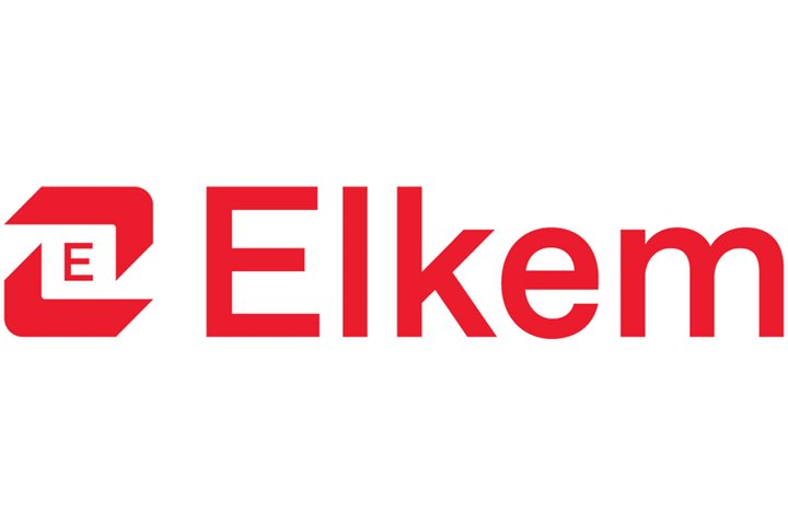 Red and grey Elkem logo