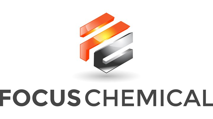 Orange and gray FC Black Text Focus Chemical