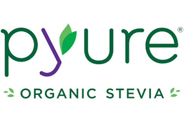 green and purple pyure brands logo