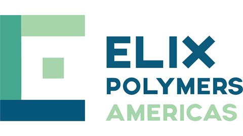 Blue and green Elix Polymer Logo