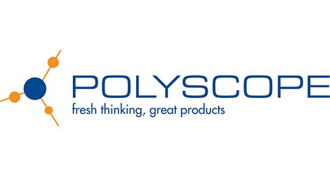 blue and orange polyscope logo